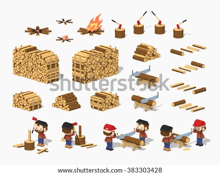 firewood harvesting by