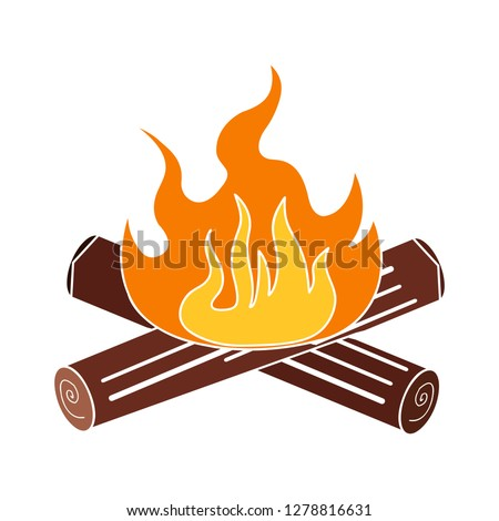 firewood icon-firewall  sign-warning illustration-safety illustration-flame isolated