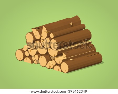 firewood stacked in piles
