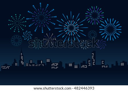 firework and cityscape building