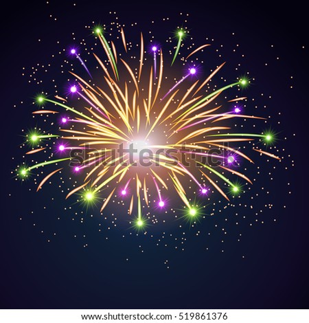 firework bursting sparkle