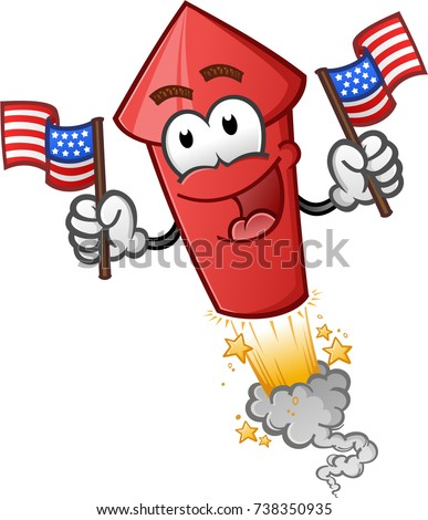 Firework Cartoon Character