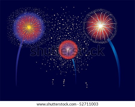 Firework display for Fourth of July or other holidays