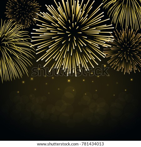 firework gold sparkle