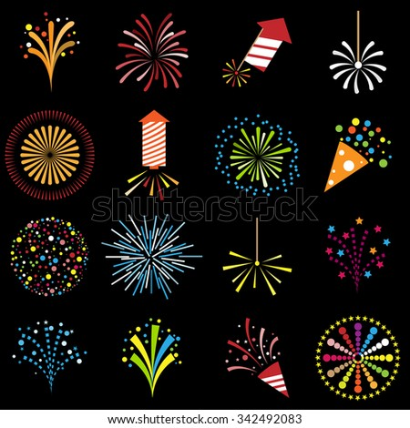 firework icons color
