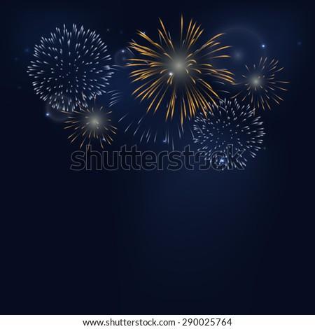 firework on dark background