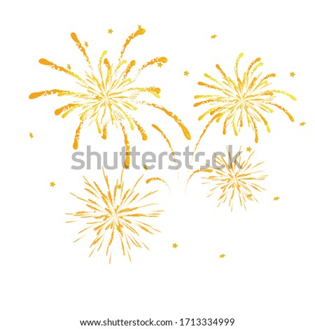 Firework on white background, can be use for celebration, party, and new year event. vector illustration.colorful firework.