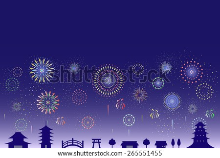 firework over the ancient city