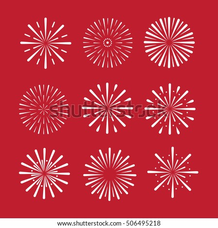 firework set vector eps 10