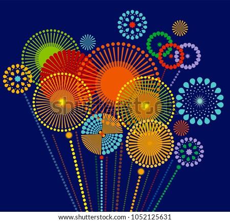 firework sparkle background