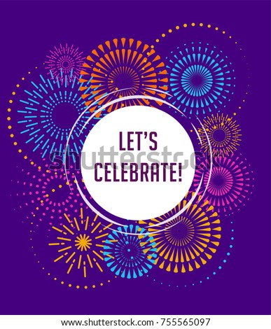 stock-vector-fireworks-and-celebration-background-winner-victory-poster-banner