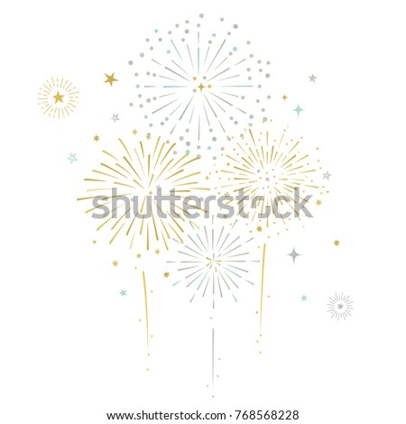 fireworks and stars vector