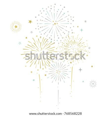 Fireworks and stars vector illustration Stock photo ©