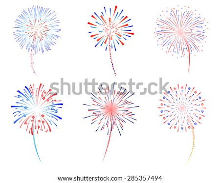 fireworks celebration vector