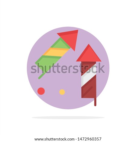 Fireworks, China, Chinese, Firecracker Abstract Circle Background Flat color Icon