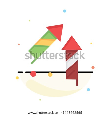 Fireworks, China, Chinese, Firecracker Abstract Flat Color Icon Template