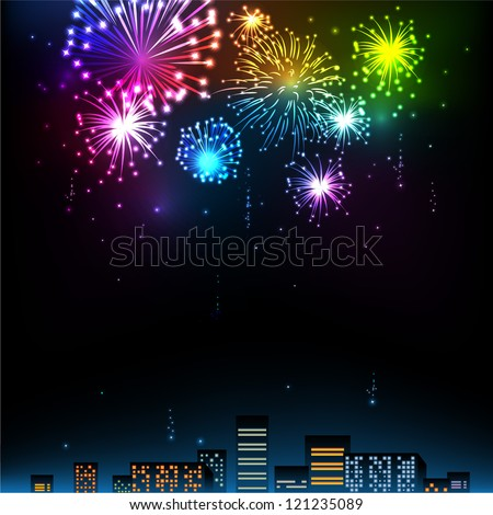 fireworks display over the