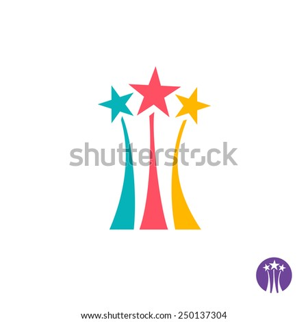 fireworks logo three color