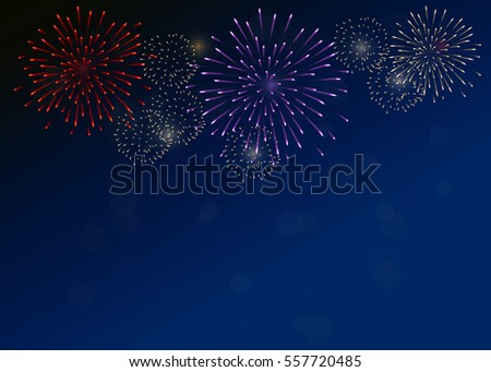 fireworks on dark blue sky