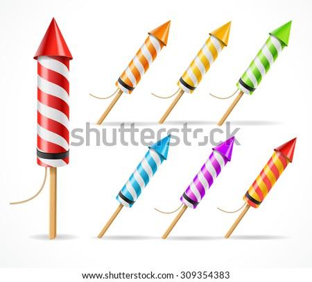 fireworks rocket set a symbol