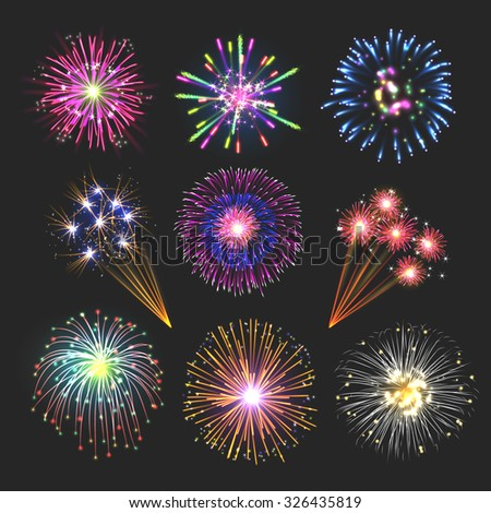 fireworks set  collection of
