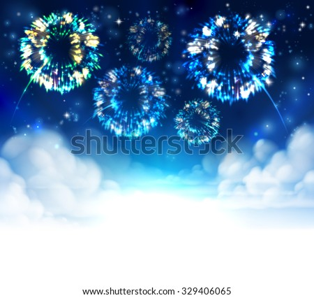 fireworks sky background with