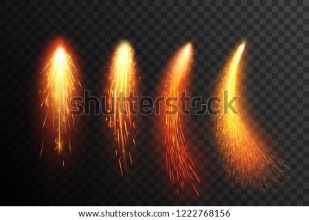 fireworks sparkling comets