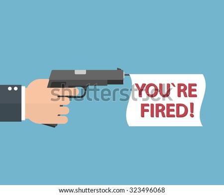 firing concept hand holding a