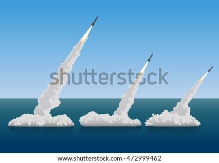 firing missiles  vector