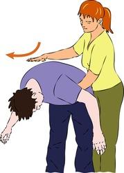 First aid - choking man