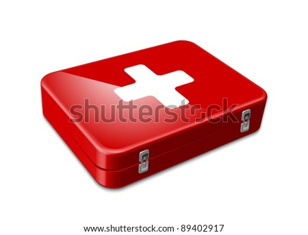 First aid icon. Vector illustration