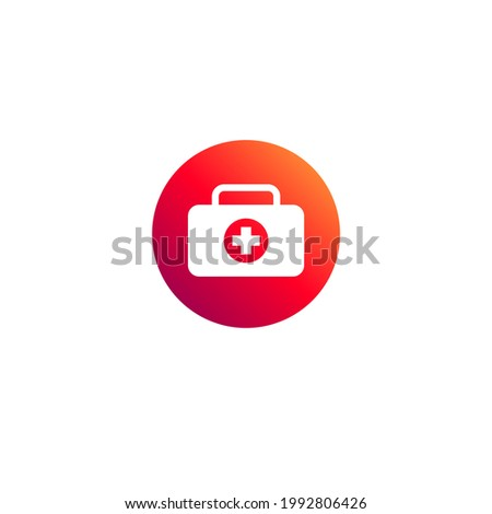 First aid kit icon. Vector illustration for graphic design, Web, UI, app.