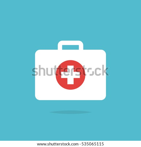 First aid kit medical icon vector isolated