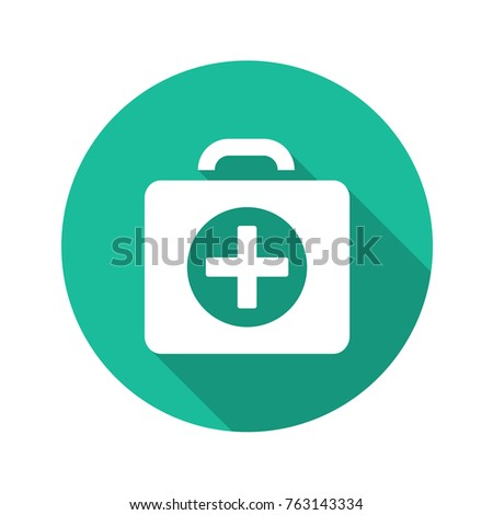 First-aid kit vector flat icon.