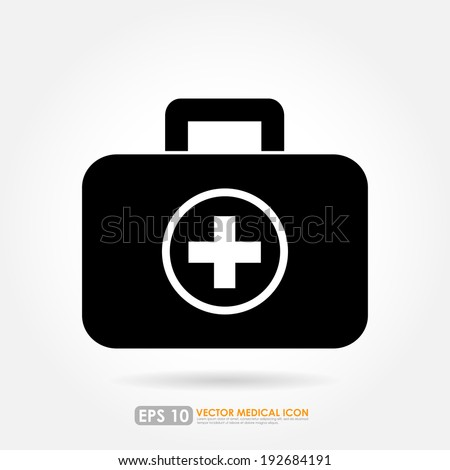 First aid or medical kit icon
