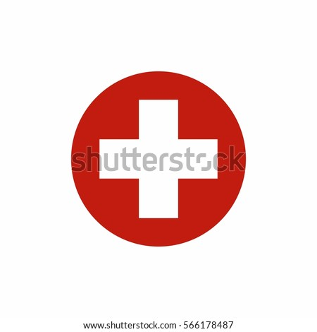 first aid sign icon vector...