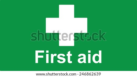 First Aid sign, vector illustration
