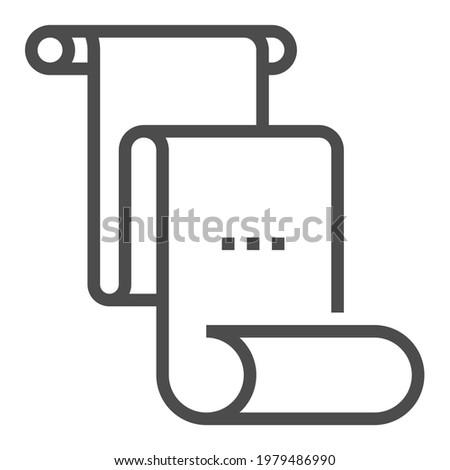 First Amendment square line vector icon. Foto stock ©