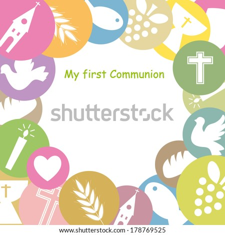 First Communion Invitation Card framework