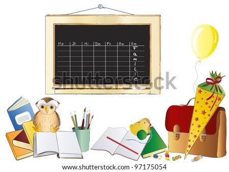 First day at school with time table