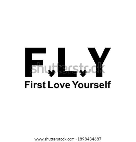 First love yourself vector illustration ストックフォト ©