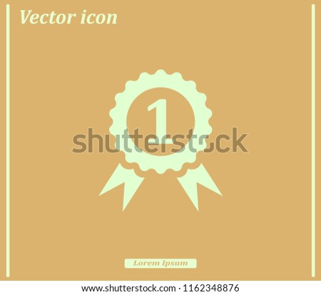 First prize, medal, reward. Vector icon.
