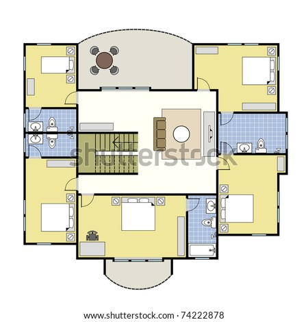 Home Design on First Second Floor Plan Floorplan House Home Building Architecture