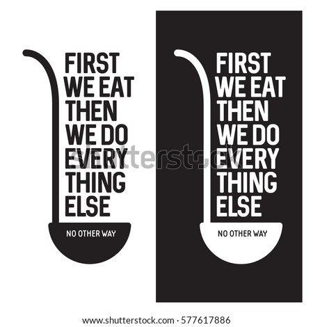 first we eat typography kitchen ...