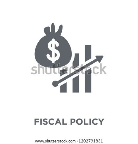 Fiscal policy icon. Fiscal policy design concept from Fiscal policy collection. Simple element vector illustration on white background.