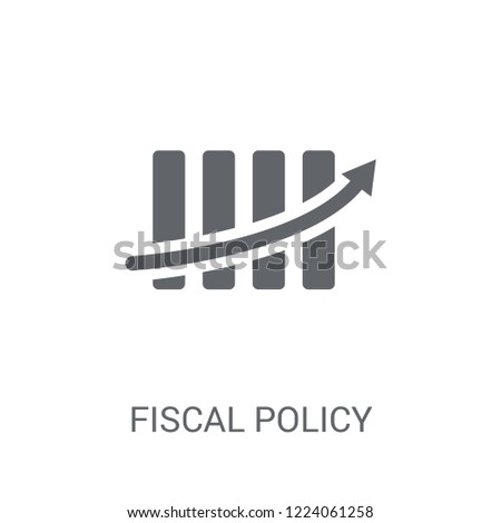 Fiscal policy icon. Trendy Fiscal policy logo concept on white background from business collection. Suitable for use on web apps, mobile apps and print media.