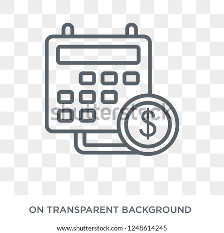 Fiscal year icon. Fiscal year design concept from Fiscal year collection. Simple element vector illustration on transparent background.