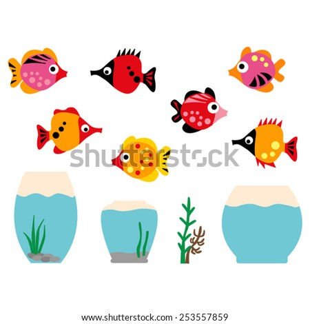 fish and aquarium