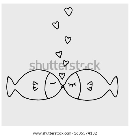 fish  baby cute hand drawn toy