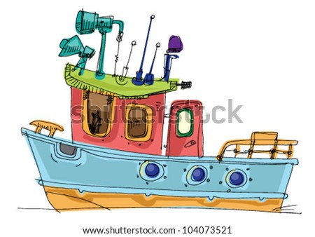 Fishing Boat Cartoon fish-boat - cartoon -